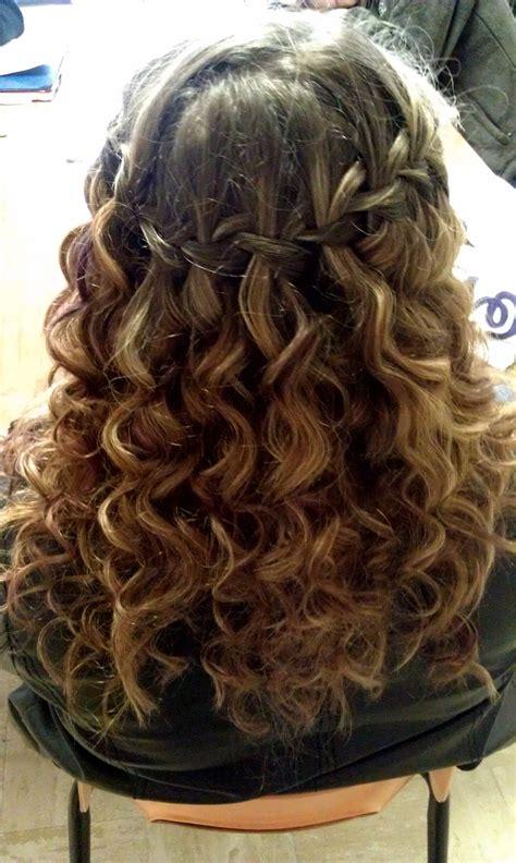 curly hair waterfall braid braids  curls curly