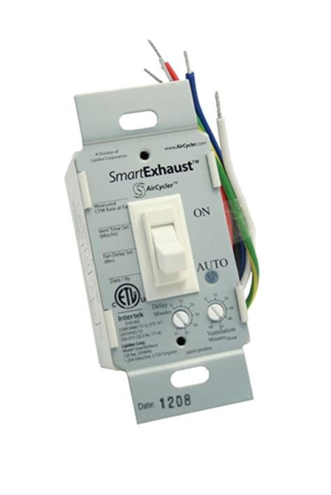bathroom fan delay timer smartexhaust ventilation control timer and light switch