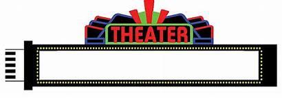 Clipart Marquee Sign Theatre Animated Neon Clip