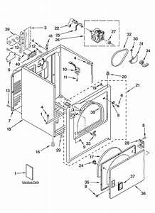 Cabinet Parts Diagram  U0026 Parts List For Model Aed4475tq0 Admiral