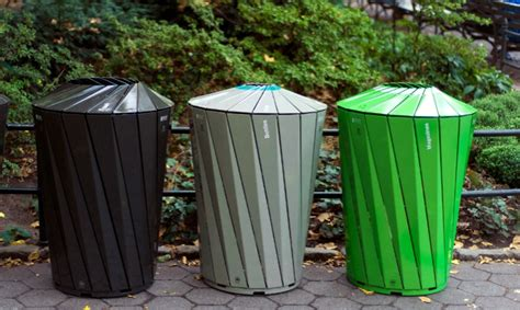 central park trash and recycling receptacles segd