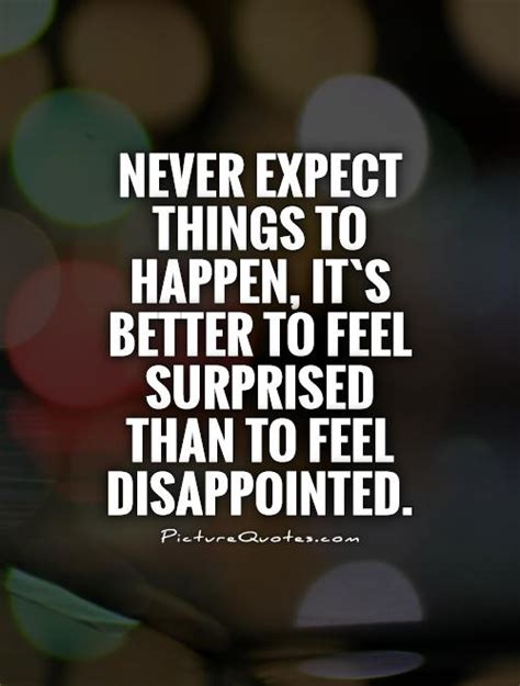 Never Expect In Love Quotes
