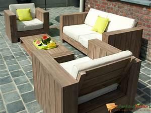 Canape De Jardin Bois : salon de jardin bas en bois cosmos sur ~ Premium-room.com Idées de Décoration
