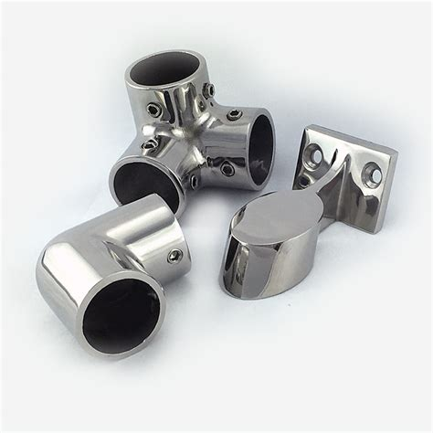 type 316 stainless steel chain rail fitting stainless steel 3 way rail corner marine