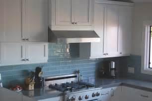 Light Blue Kitchen Backsplash Best Backsplash For Cabinets Sky Blue Glass Subway Tile Kitchen Backsplash With White Top