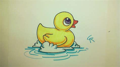 drawn duckling cute pencil   color drawn duckling cute