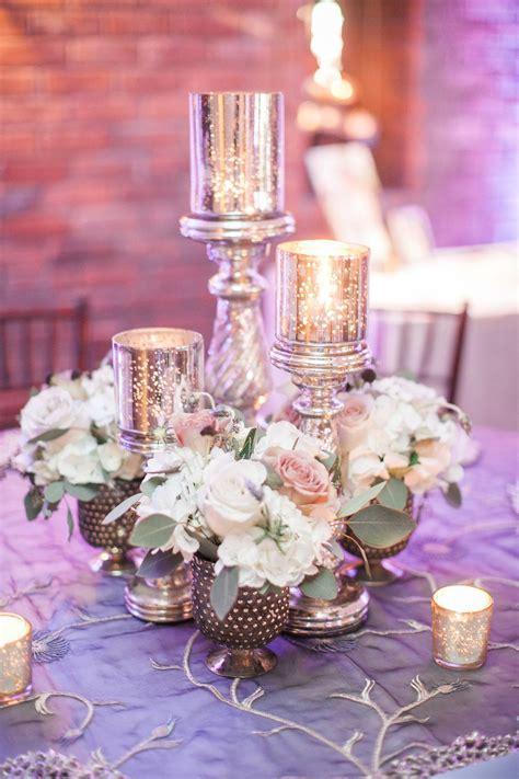 Wedding Centerpiece Our Set Of 3 Silver Mercury Glass