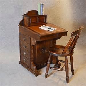 antique davenport desk oak pedestal writing study table c1870 252338