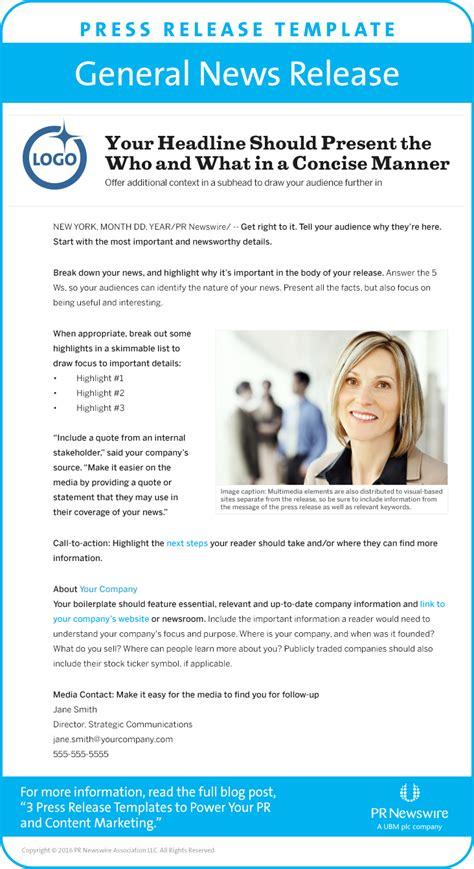 blog  press release templates  power pr content
