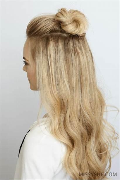 Bun Mini Half Hairstyle Hairstyles Summer Way