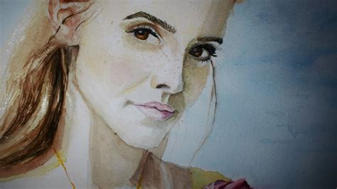 Painting Emma Watson The Beauty Watercolor