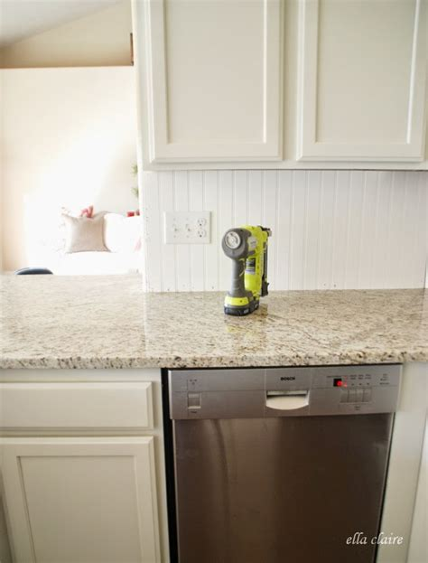 $30 Beadboard Kitchen Backsplash Tutorial  Ella Claire