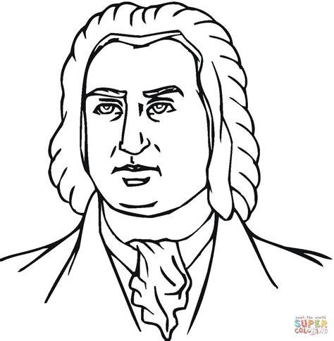 Johann Sebastian Bach Coloring Page Free Printable