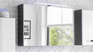 Beleuchtung Für Bad : spiegelschrank melissa in grau mit led beleuchtung f r bad ~ Indierocktalk.com Haus und Dekorationen