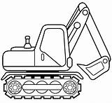 Coloring Excavator Pages sketch template