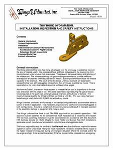Tow Hook Installation And Safety Instructions