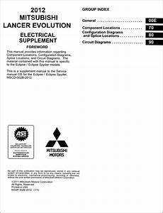 2012 Mitsubishi Lancer Evolution Wiring Diagram Manual
