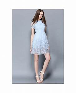 baby blue lace short wedding guest dress gemgrace With blue wedding guest dress
