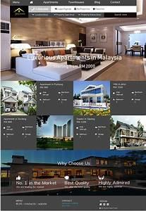 Real Estate Website Template Ui  Ux Design On Behance
