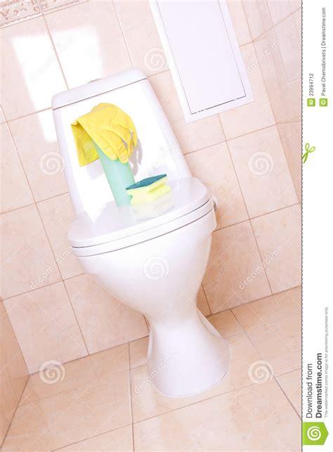 equipement toilette housework equipment in toilet stock photography image