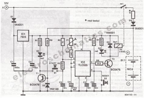 Portable Nicd Battery Charger Circuit
