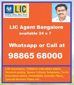 As most persons in this age category, and living of their life. Senior Citizen Investment plans 9886568000 LIC Agent Bangalore