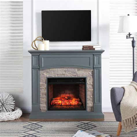 stacked electric fireplace southern enterprises conway 45 75 in w electric media