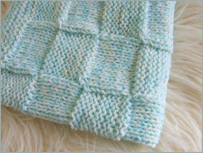 Waffle Baby Blanket Knitting Patterns