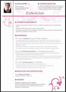 Resume For A Cosmetologist Esthetician Resume With No Experience Esthetics In 2019