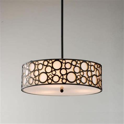 3 light black beige drum chandelier ceiling pendant