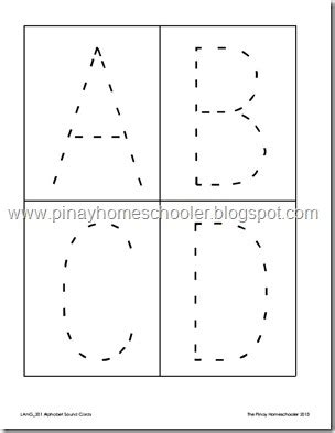 alphabet sound cards and tracing cards the
