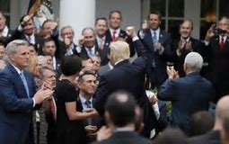 Image result for image of gop with trump tax celebration
