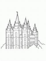 Temple Salt Lake Lds Coloring Primary Pages Clipart Drawing Line Temples Utah Outline Printable Mormon Vector Unique George St Sheets sketch template