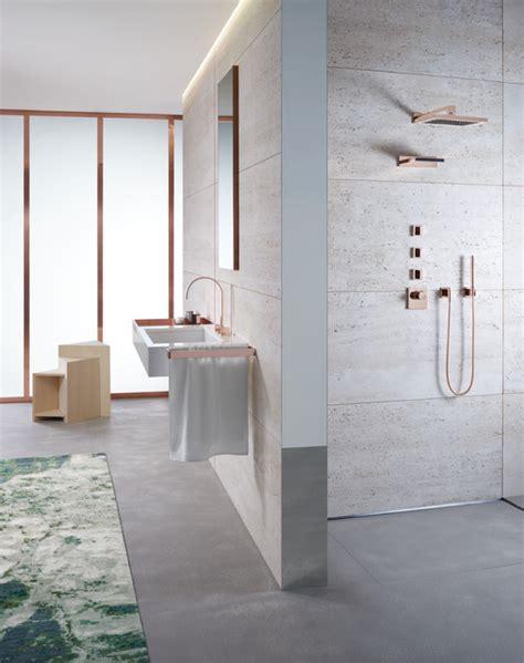 dornbracht bathroom  rose gold