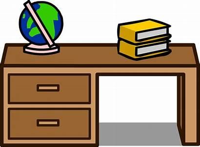 Desk Clipart Student Table Club Teacher Penguin