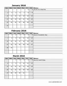 printable 3 month calendar 2016 calendar template 2018 With 3 month calendar template 2014