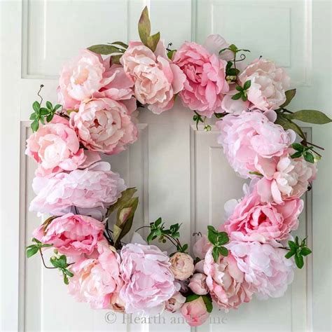 Make A Beautiful Spring Peony Wreath In Under An Hour