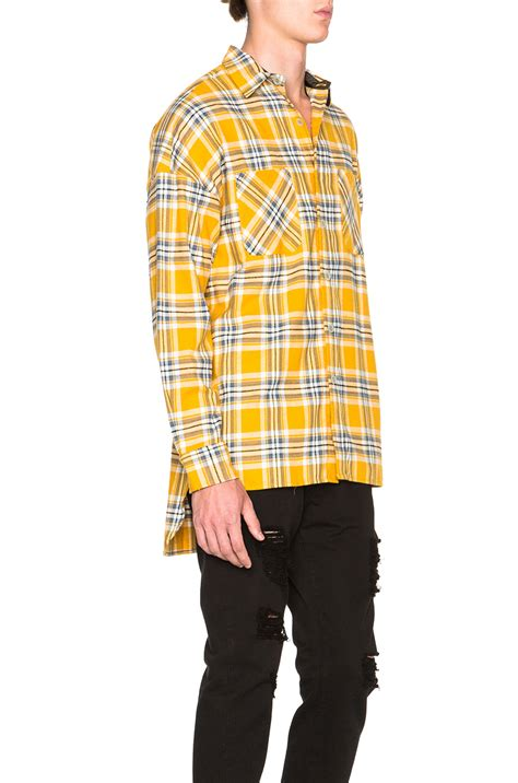 Fear of god Flannel Shirt in Yellow   Lyst