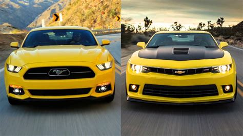 Chevrolet Camaro Vs Ford Mustang by Comparativa Chevrolet Camaro Vs Ford Mustang
