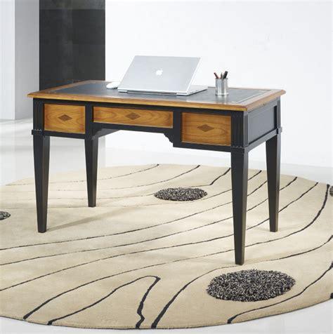 meuble bureau noir bureau 3 tiroirs 1 2 ministre bérangère en merisier de
