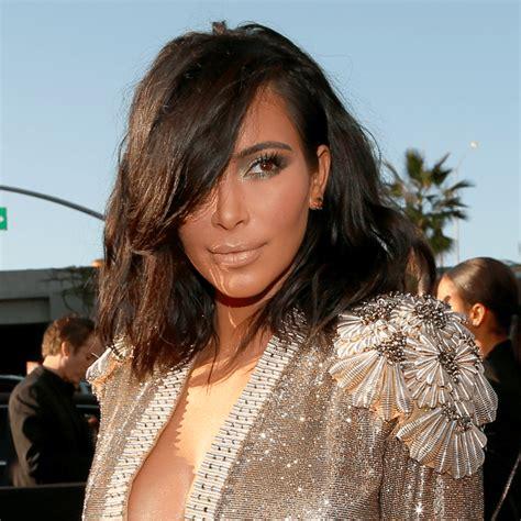kim kardashian short hair 2015 popsugar beauty