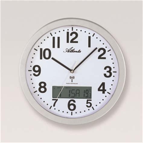 horloge murale radio pilotee avec date pendule murale radio pilote affichage date et temprature