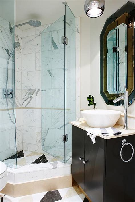 corner shower contemporary bathroom sarah richardson