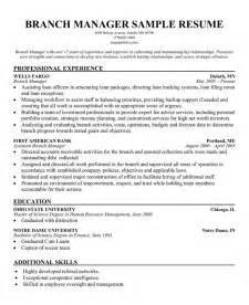 bank manager resume sle assistant branch manager resume exles assistant branch manager resume exles bank with