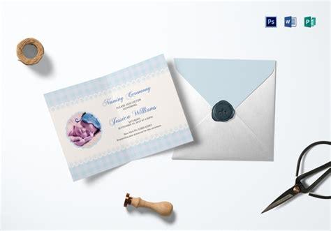 naming ceremony invitation templates printable psd