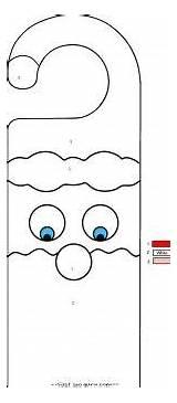Coloring Printable Pages Door Christmas Hangers Santa Hanger Crafts Claus Decorations Activities Fastseoguru Nursing Guardado Desde sketch template