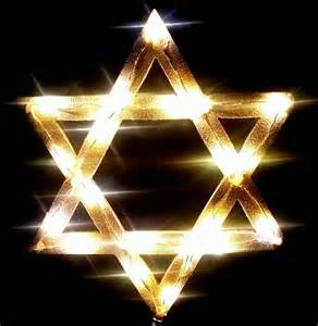 lightweight light up star of david tree topper for