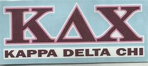 decor With kappa delta chi greek letters