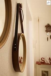 Miroir Rond Cuir : comment faire soi m me un miroir suspendu d co ~ Teatrodelosmanantiales.com Idées de Décoration