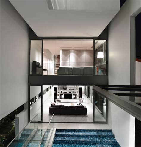 home interior architecture inside of a stylish home in singapore
